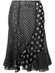 юбка с узором в горох Junya Watanabe Comme Des Garçons Vintage