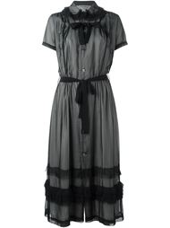 платье-рубашка с прозрачным верхним слоем Comme Des Garçons Vintage