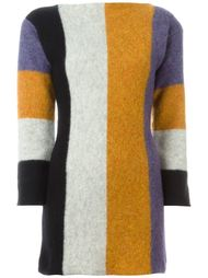 платье-свитер дизайна колор-блок Jean Paul Gaultier Vintage