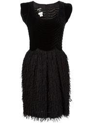 комбинированное платье с бархатным топом Jean Paul Gaultier Vintage