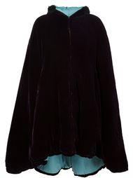 бархатная накидка с капюшоном Jean Paul Gaultier Vintage