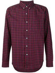 клетчатая рубашка с воротником на пуговицах 321