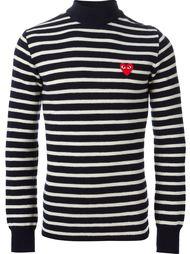 свитер  полоску с логотипом Comme Des Garçons Play