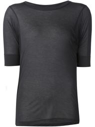 прозрачная футболка с круглым вырезом Alexandre Plokhov