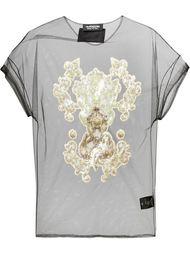 прозрачная блузка декорированная пайетками Antpitagora