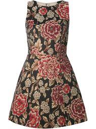 расклешенное жаккардовое платье с цветочным узором Alice+Olivia