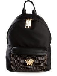 рюкзак с золотистой деталью 'Medusa' Versace