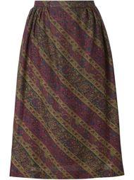 плиссированная юбка в принт  Jean Louis Scherrer Vintage
