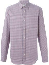 рубашка с узором в ломаную клетку Mauro Grifoni