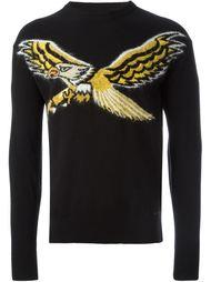 свитер с принтом-интарсией орла Diesel