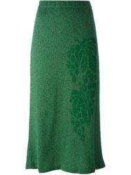 юбка-миди с цветочным рисунком Christian Dior Vintage