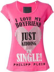 футболка с принтом 'I'm single' Philipp Plein