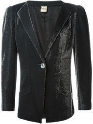 формальный пиджак с отблеском Krizia Vintage