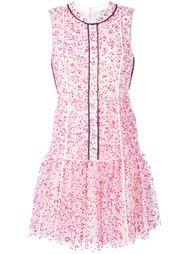 плиссированное платье с цветочным принтом Fendi