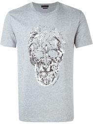 футболка с принтом черепа и птиц Alexander McQueen