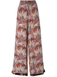 широкие брюки с цветочным принтом  Valentino