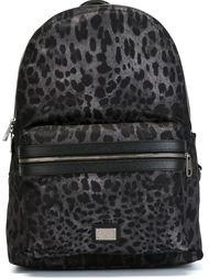 рюкзак с леопардовым принтом   Dolce & Gabbana