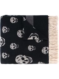 платок с принтом-интарсией черепов Alexander McQueen