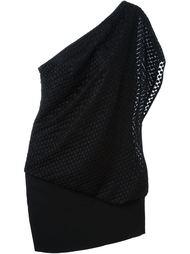 драпированное асимметричное платье Jay Ahr