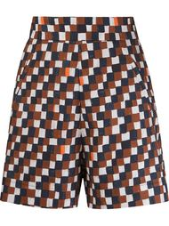 geometric print high-waisted short Andrea Marques