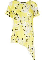 асимметричная рубашка с абстрактным принтом Andrea Marques
