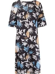 foliage printed midi dress Andrea Marques