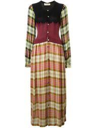 длинное клетчатое платье на пуговицах Comme Des Garçons Vintage