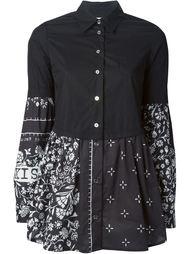 двухслойная рубашка с цветочным принтом  Mm6 Maison Margiela