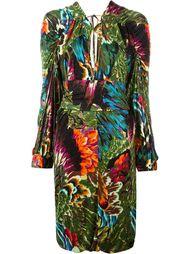 платье-кимоно с принтом Kenzo Vintage