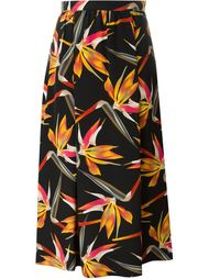 юбка с принтом орхидей Fendi