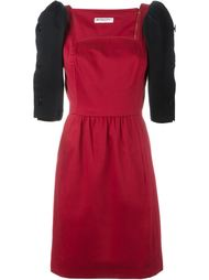 платье с контрастными рукавами на пуговицах Yves Saint Laurent Vintage
