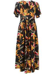 платье с принтом птиц Fendi