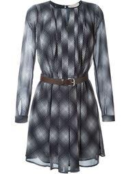 платье с геометрическим принтом и поясом Michael Michael Kors