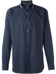 рубашка с полосатым воротником Brioni