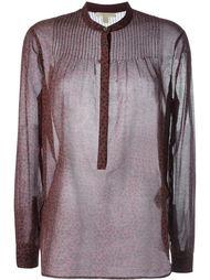 прозрачная блузка с принтом звезд Burberry