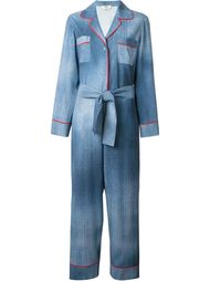 джинсовый комбинезон с поясом Fendi