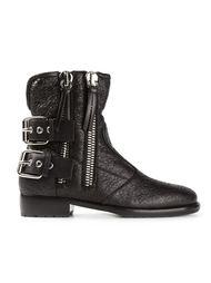 байкерские ботинки на молнии  Giuseppe Zanotti Design
