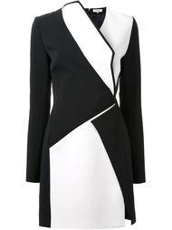 приталенное платье с панельным дизайном  Mugler
