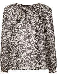 прозрачная блузка с животным принтом Nili Lotan