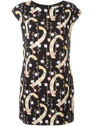 платье шифт с цветочным принтом Saint Laurent