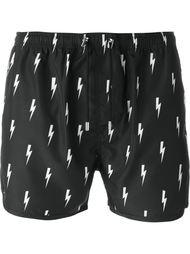 плавательные шорты с принтом вспышек молнии Neil Barrett