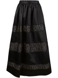 длинная пышная юбка с кружевными вставками Alice+Olivia
