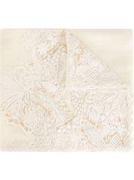 шарф с кружевной панелью Salvatore Ferragamo