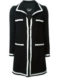 однобортное классическое пальто  Boutique Moschino