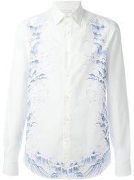 рубашка с принтом волн Alexander McQueen