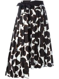 асимметричная юбка с растительным принтом Marni