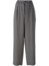 широкие брюки с мелким узором Marni