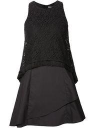 многослойное платье с кружевным топом Derek Lam 10 Crosby