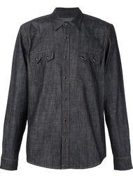 джинсовая рубашка в стиле вестерн 321