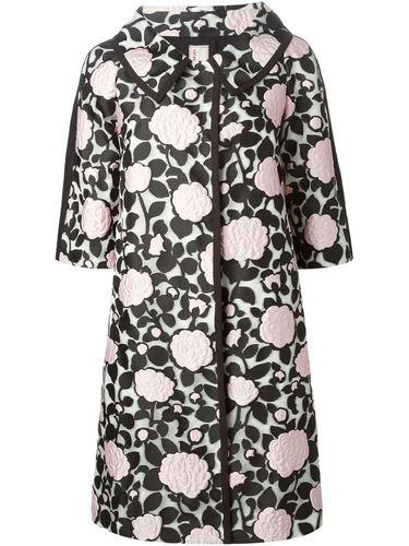 пальто с аппликацией цветов Antonio Marras